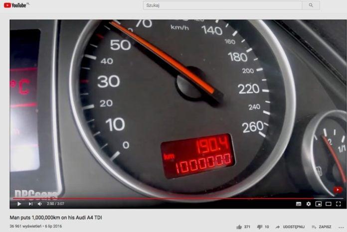 Milion kilometrów w Audi
