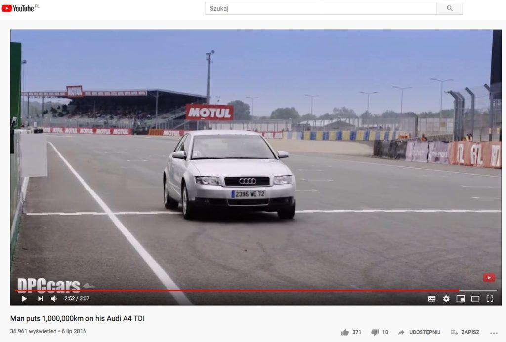 Milion kilometrów w Audi A4
