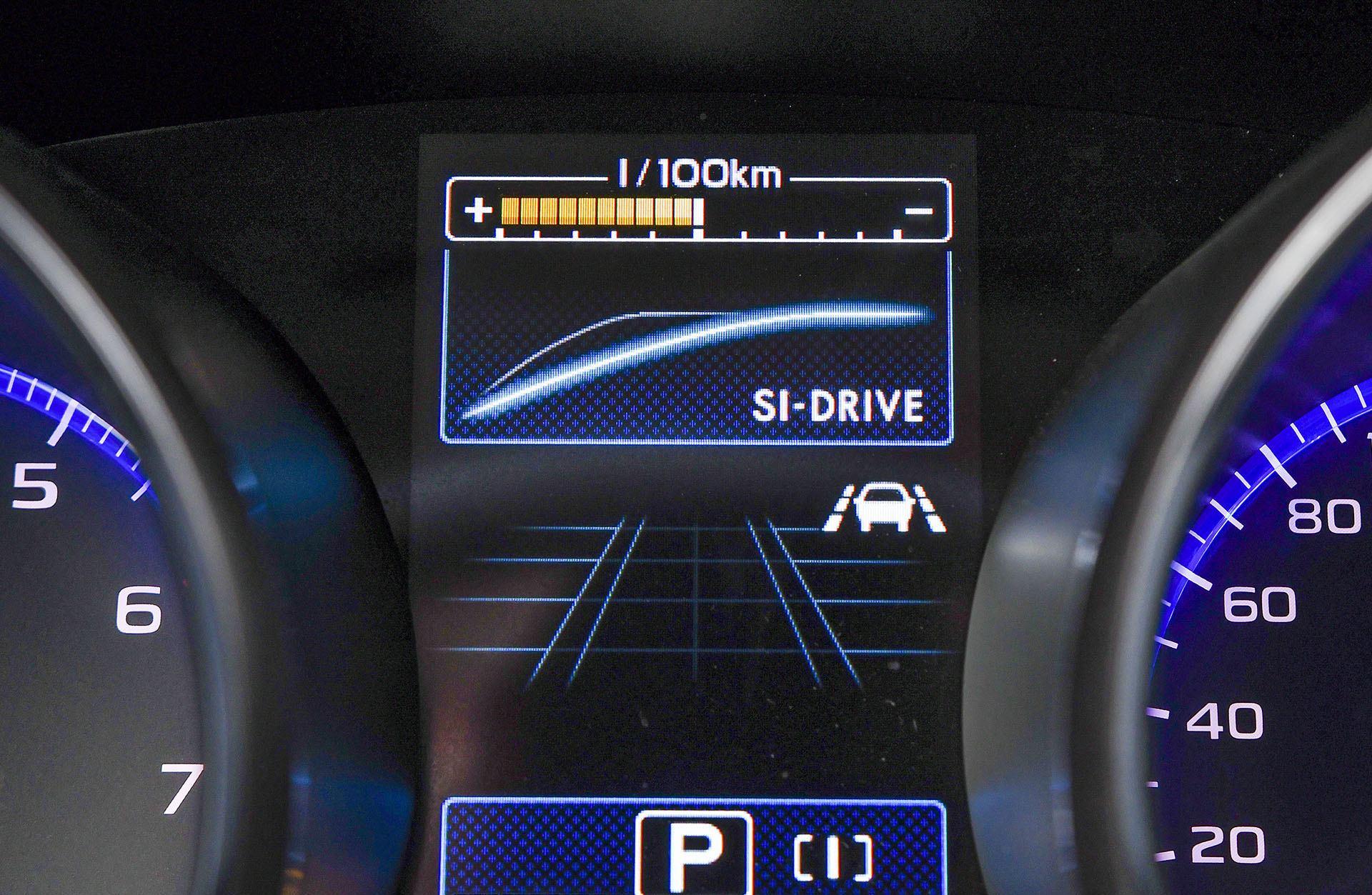 Subaru Outback - zmiana trybu pracy pedału gazu