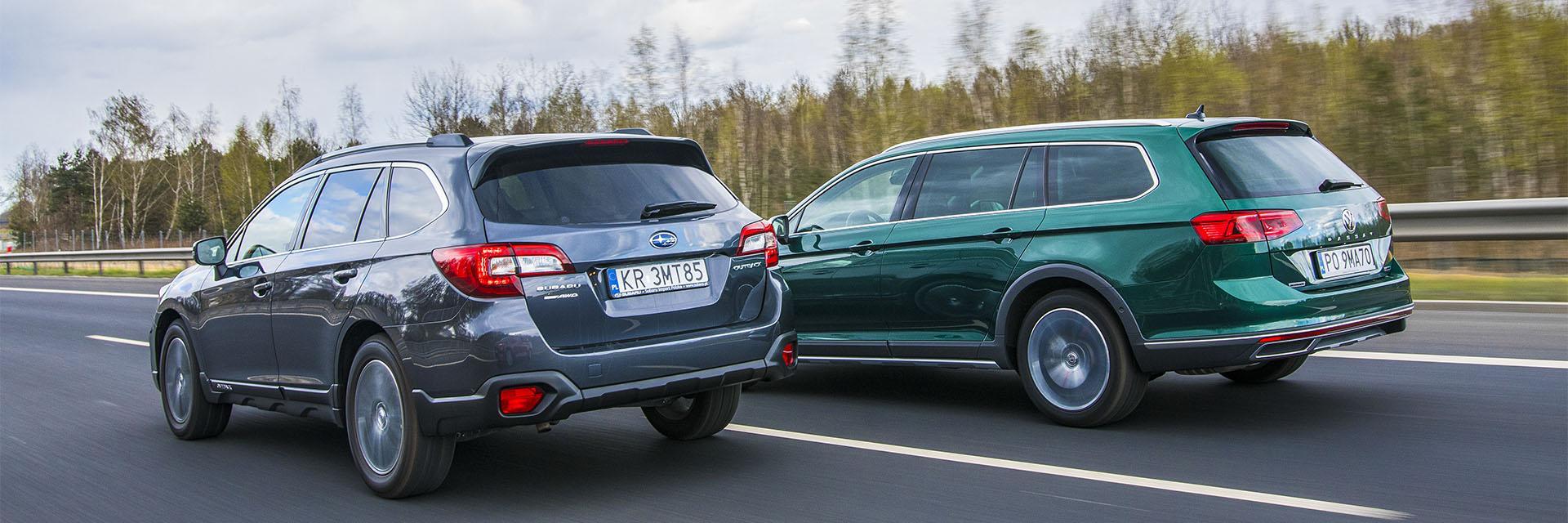Subaru Outback, Volkswagen Passat Alltrack - trasa