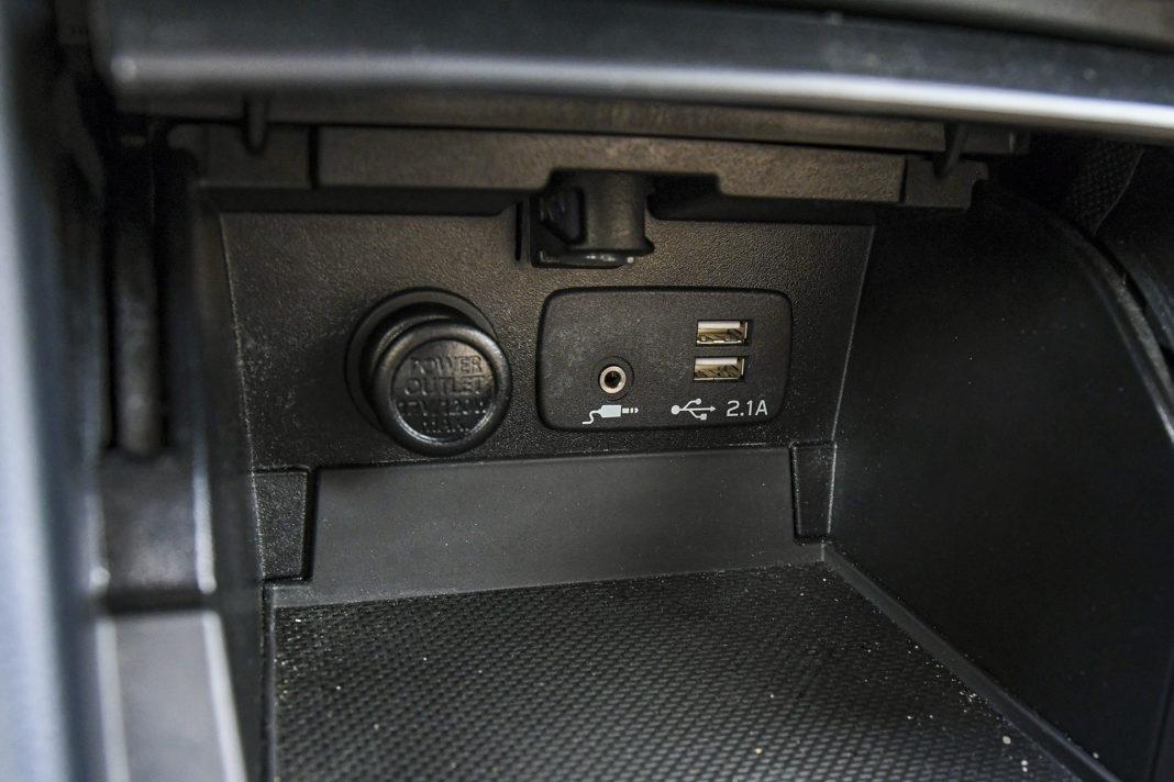 Subaru Outback - gniazdka