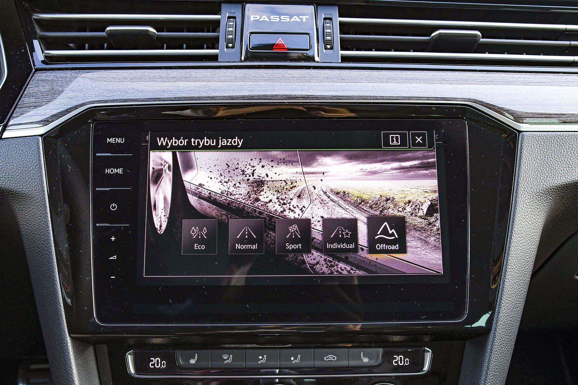 Volkswagen Passat Alltrack - tryby jazdy