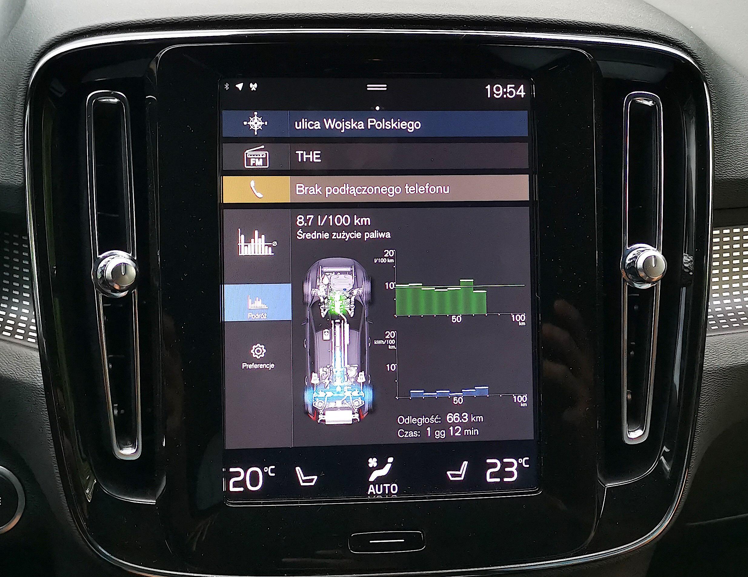 Volvo XC40 Recharge T5 FWD - przepływ