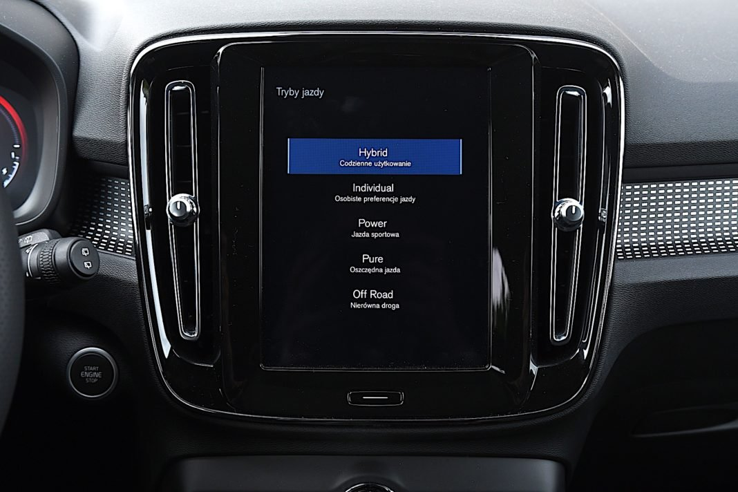 Volvo XC40 Recharge T5 FWD - tryby jazdy