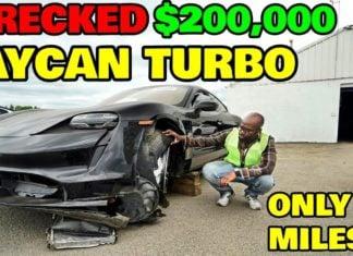 Skasowane Porsche Taycan. Czy opłaca się je naprawić?