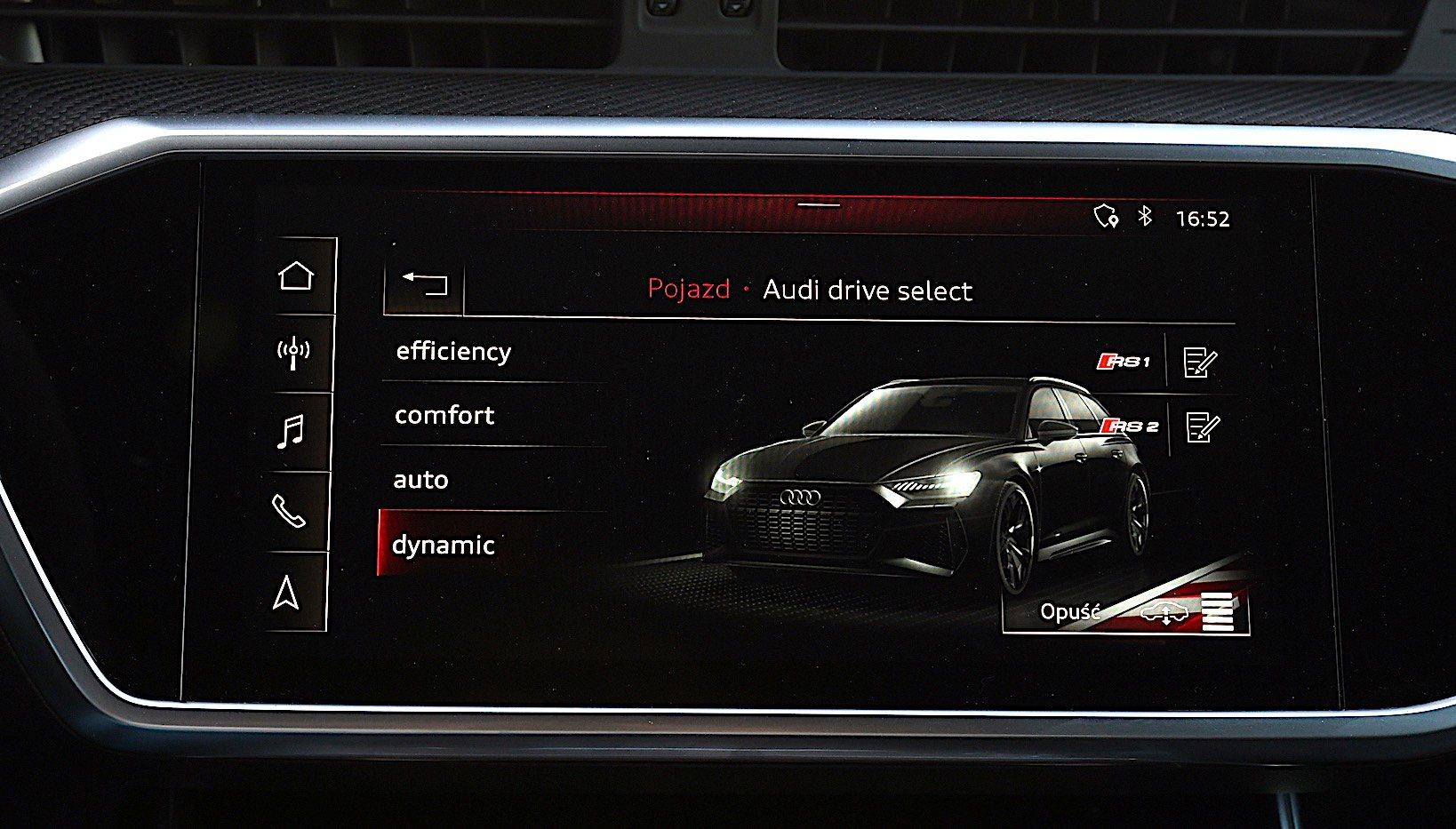 Audi RS 6 Avant – tryby jazdy