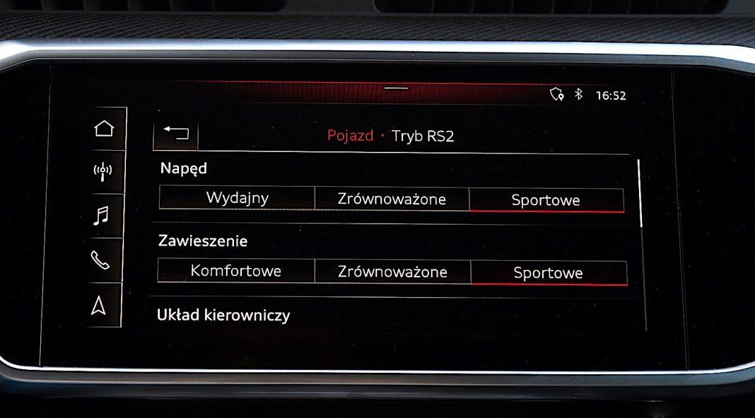 Audi RS 6 Avant – ustawienia