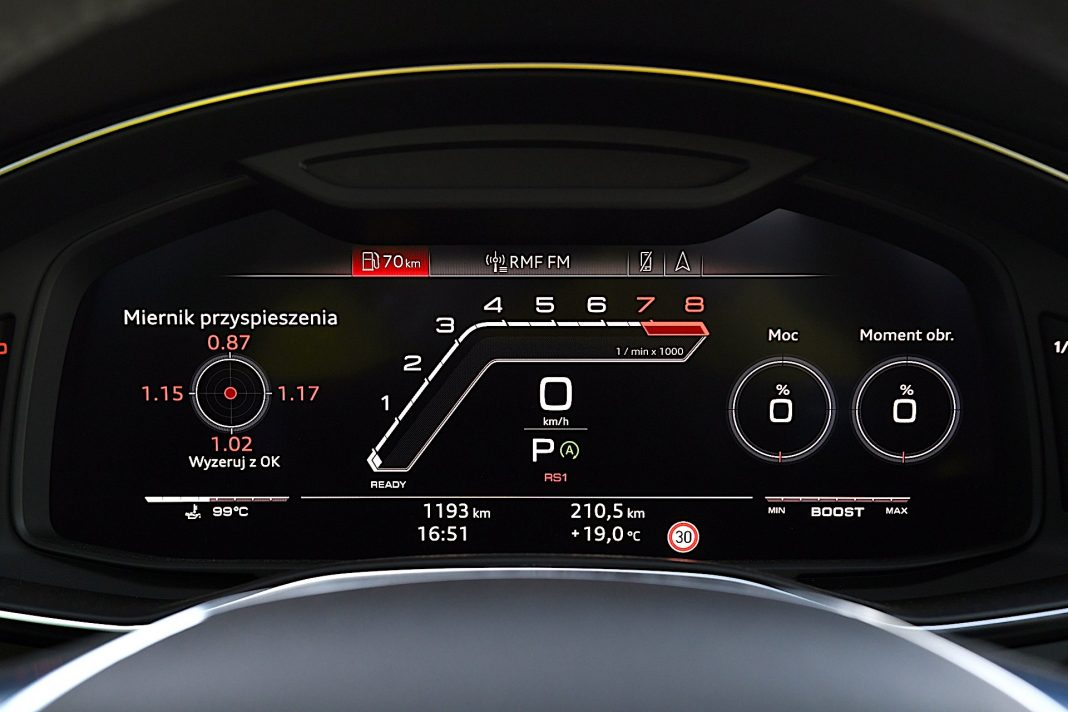 Audi RS 6 Avant – zegary