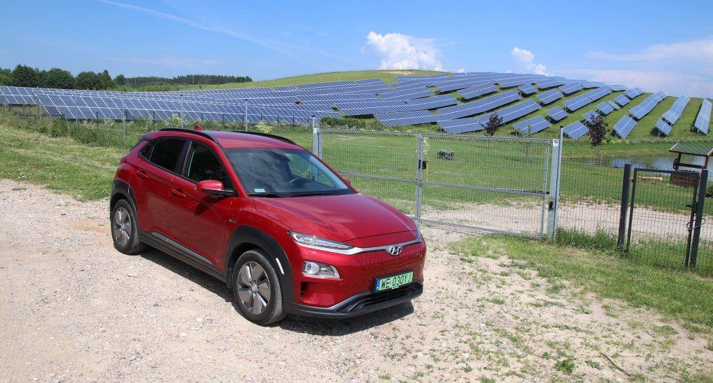 Hyundai Kona i panele słoneczne
