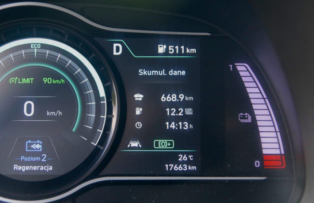 Hyundai Kona - zasięg