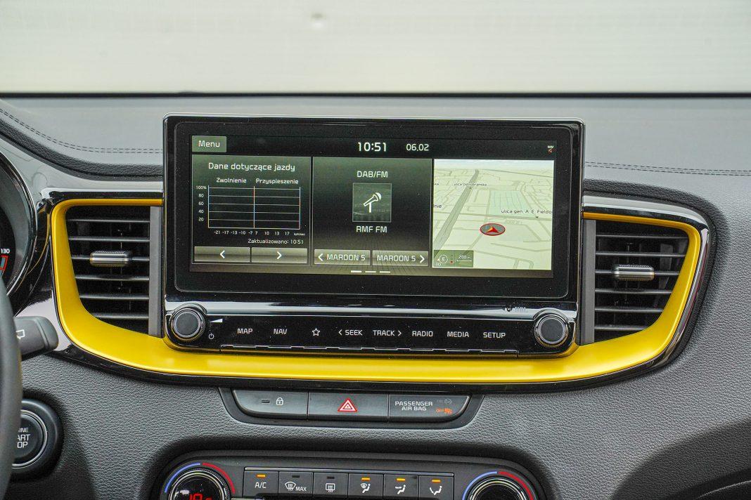 Kia XCeed – ekran centralny