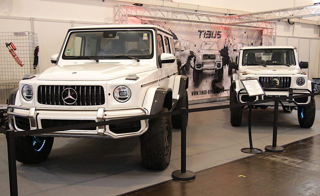 Mercedes G i Suzuki Jimny