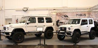 Mercedes klasy G i Suzuki Jimny