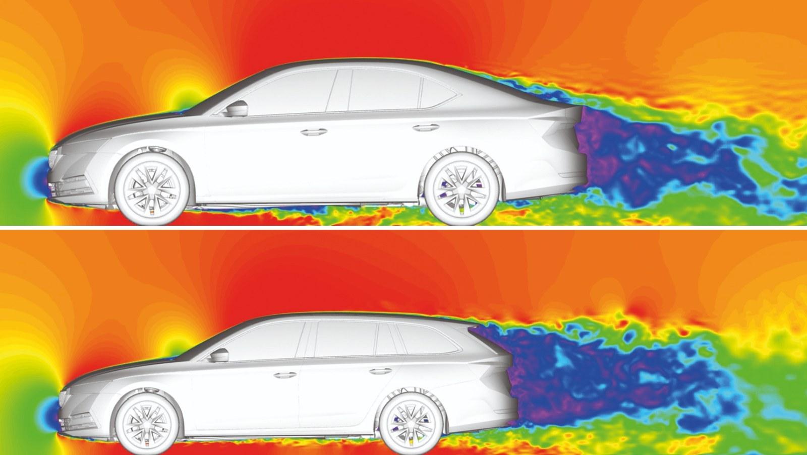 Skoda Octavia aerodynamika 03