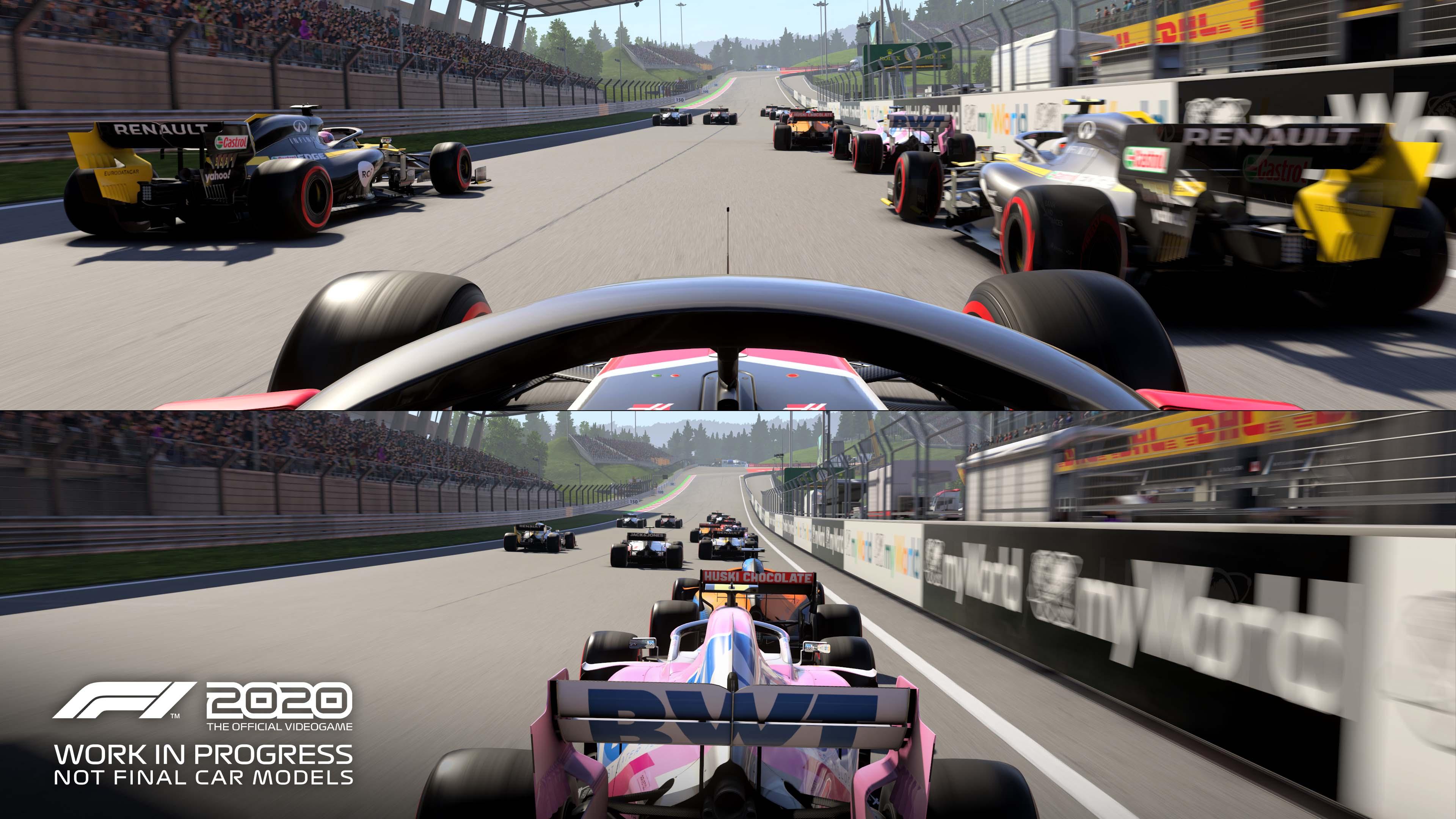 F1 2020 - tryb podzielonego ekranu