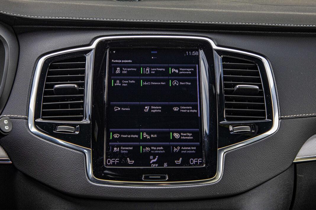 Volvo XC90 - ekran