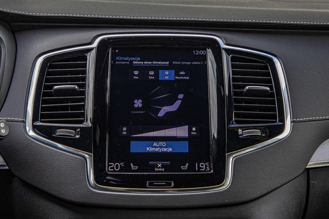 Volvo XC90 - sterowanie klimatyzacją