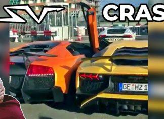 Nietypowy wypadek: dwa Lamborghini zderzyły się ze sobą