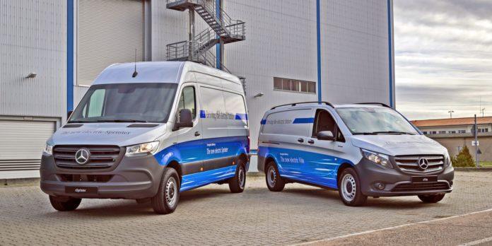 Elektryczne vany Mercedesa
