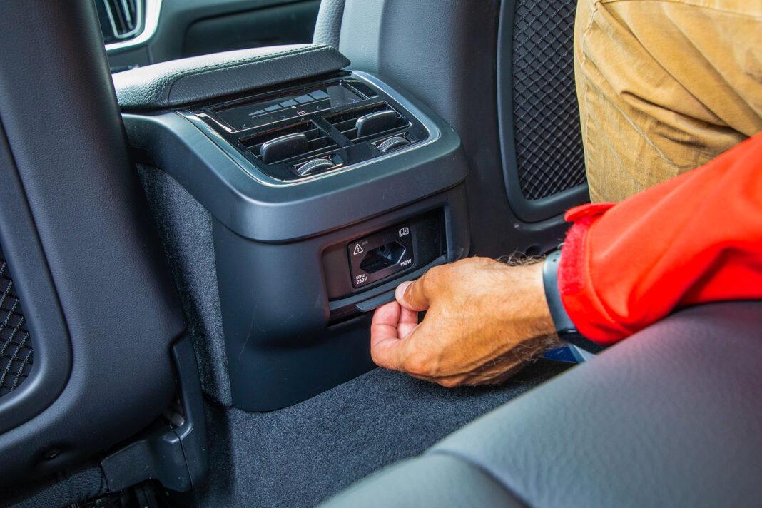 Volvo S60 T4 test – gniazdo 230V