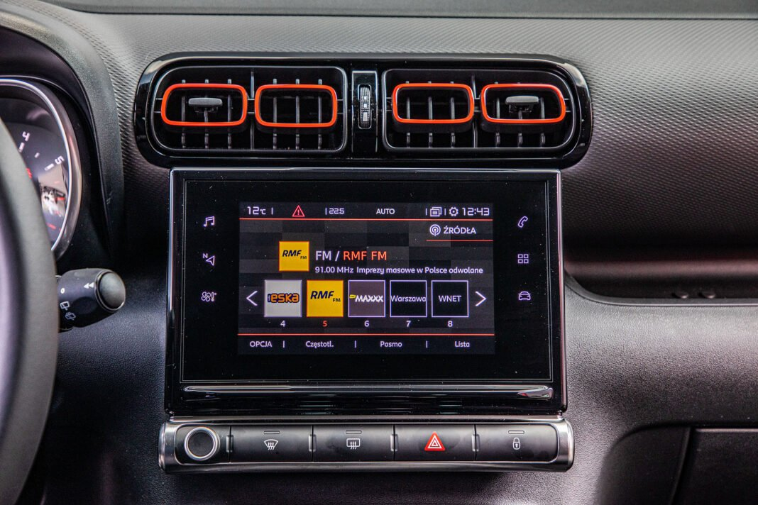 Citroen C3 Aircross - ekran