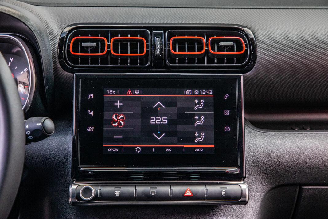 Citroen C3 Aircross - klimatyzacja