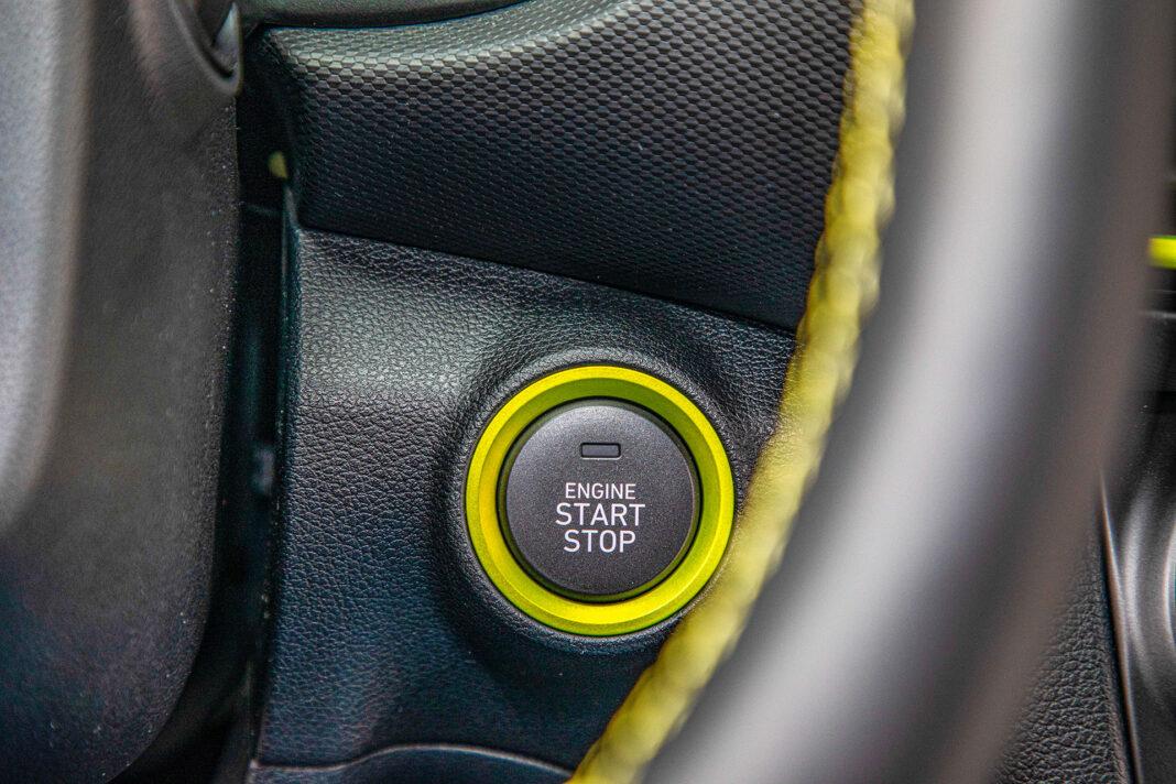 Hyundai Kona - przycisk startera