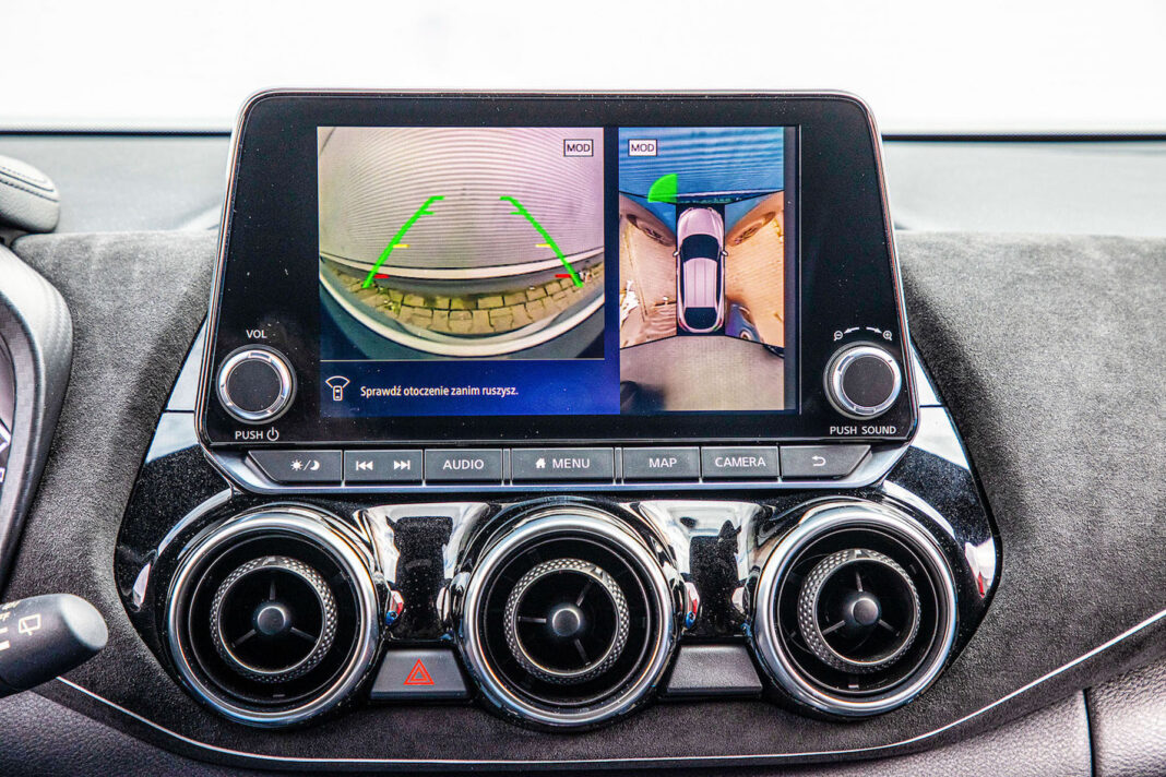 Nissan Juke - kamery