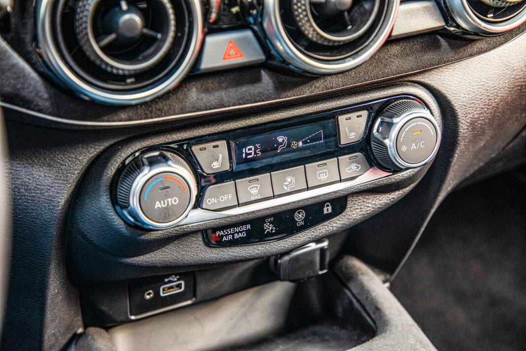 Nissan Juke - panel klimatyzacji