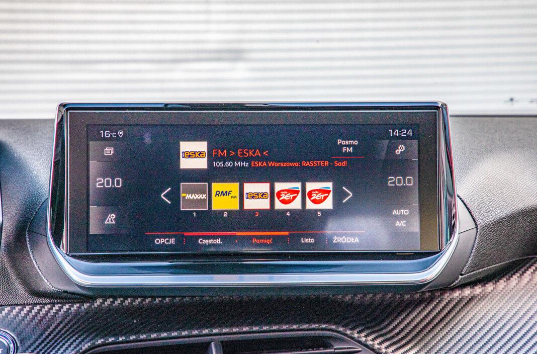 Peugeot 2008 - ekran