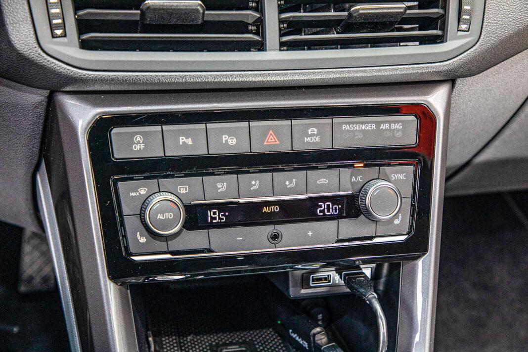 Volkswagen T-Cross - panel klimatyzacji