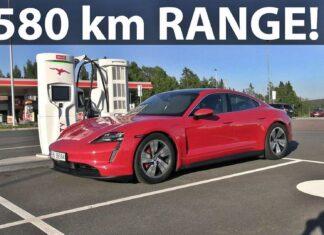 Porsche Taycan 4S – test zużycia prądu w trasie