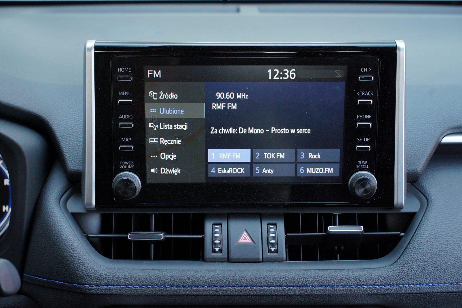 toyota rav4 system multimedialy