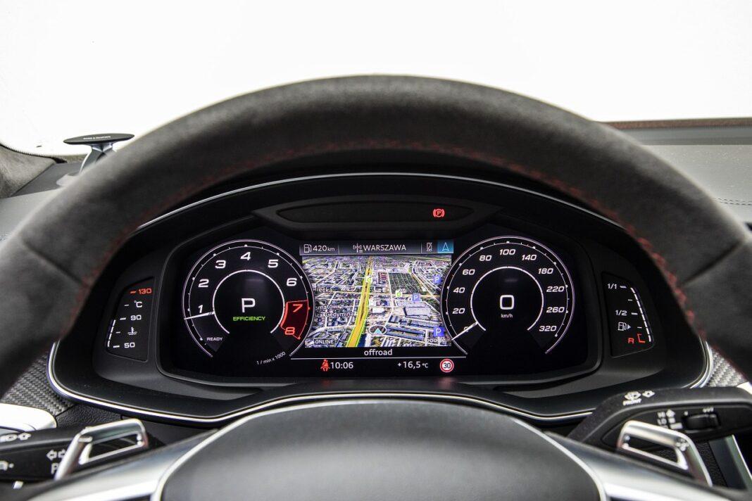 Audi RS 7 Sportback (2020) test zegary 01