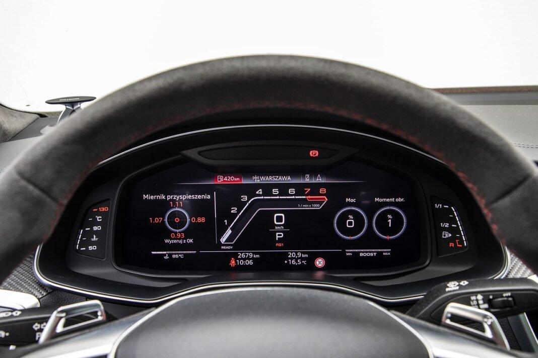 Audi RS 7 Sportback (2020) test zegary 03