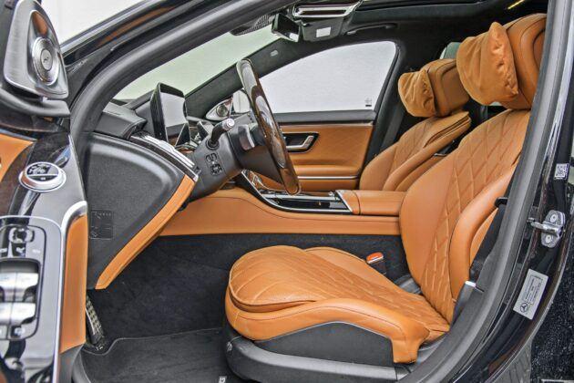Mercedes klasy S - fotele przednie