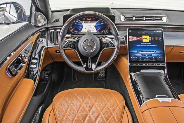 Mercedes klasy S - deska rozdzielcza