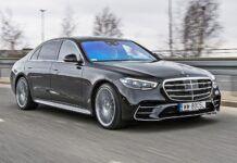Mercedes klasy S - przód