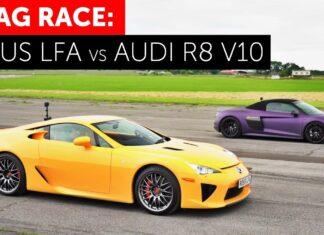 Audi R8 kontra Lexus LFA – pojedynek wolnossących V10