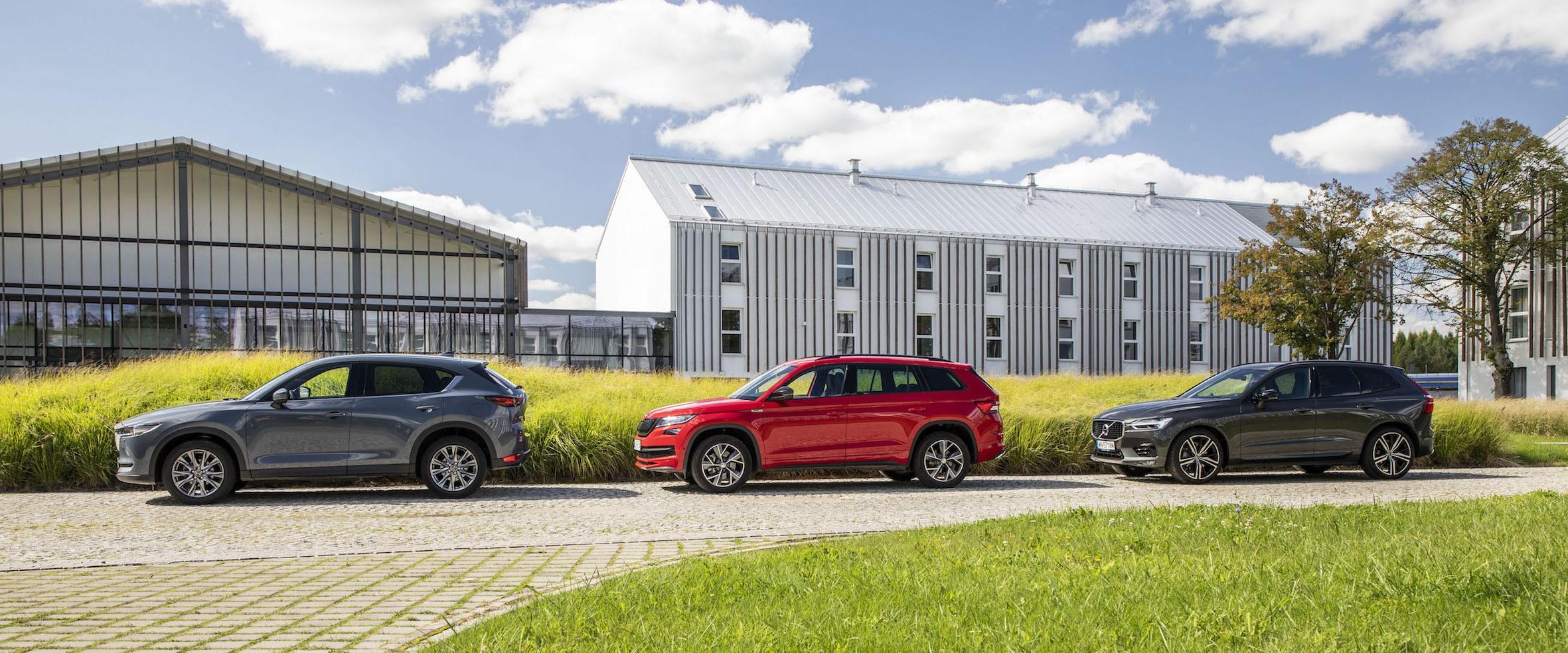 Mazda CX-5, Skoda Kodiaq, Volvo XC60