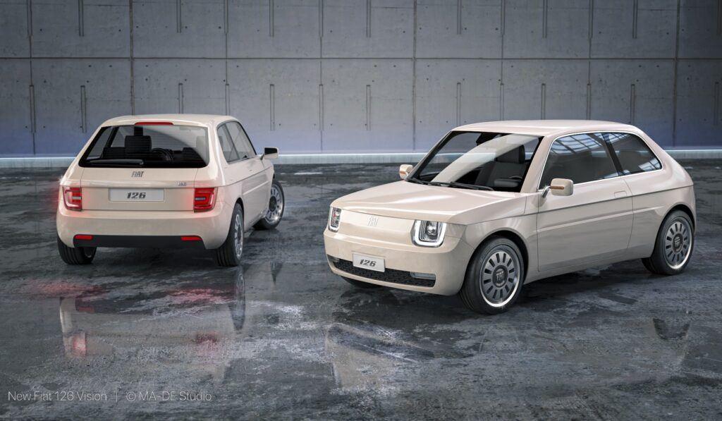 Elektryczny Fiat 126 Vision