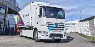 Elektryczny Mercedes eActros