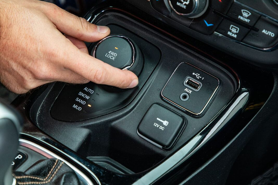 Jeep Compass - tryby jazdy