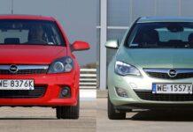 Opel Astra H i Astra J