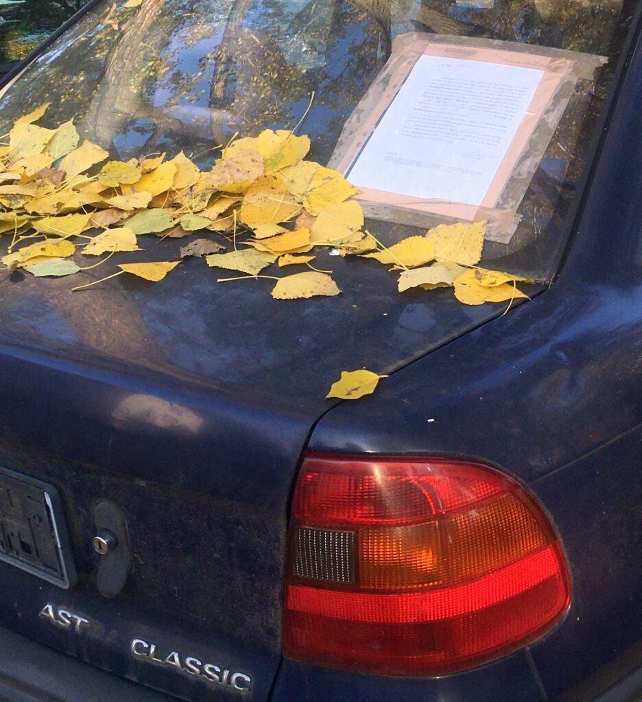 Porzucony samochód - odholowanie