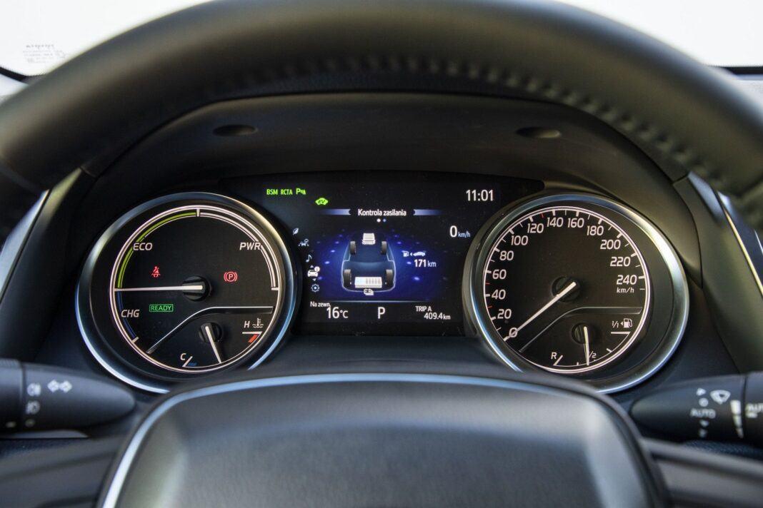 Toyota Camry Hybrid 2020 - test - wskaźniki