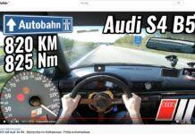 Audi A4 na autostradzie