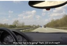 BMW M3 na autostradzie