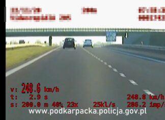 Niechlubny rekord. Prawie 250 km/h po alkoholu i narkotykach