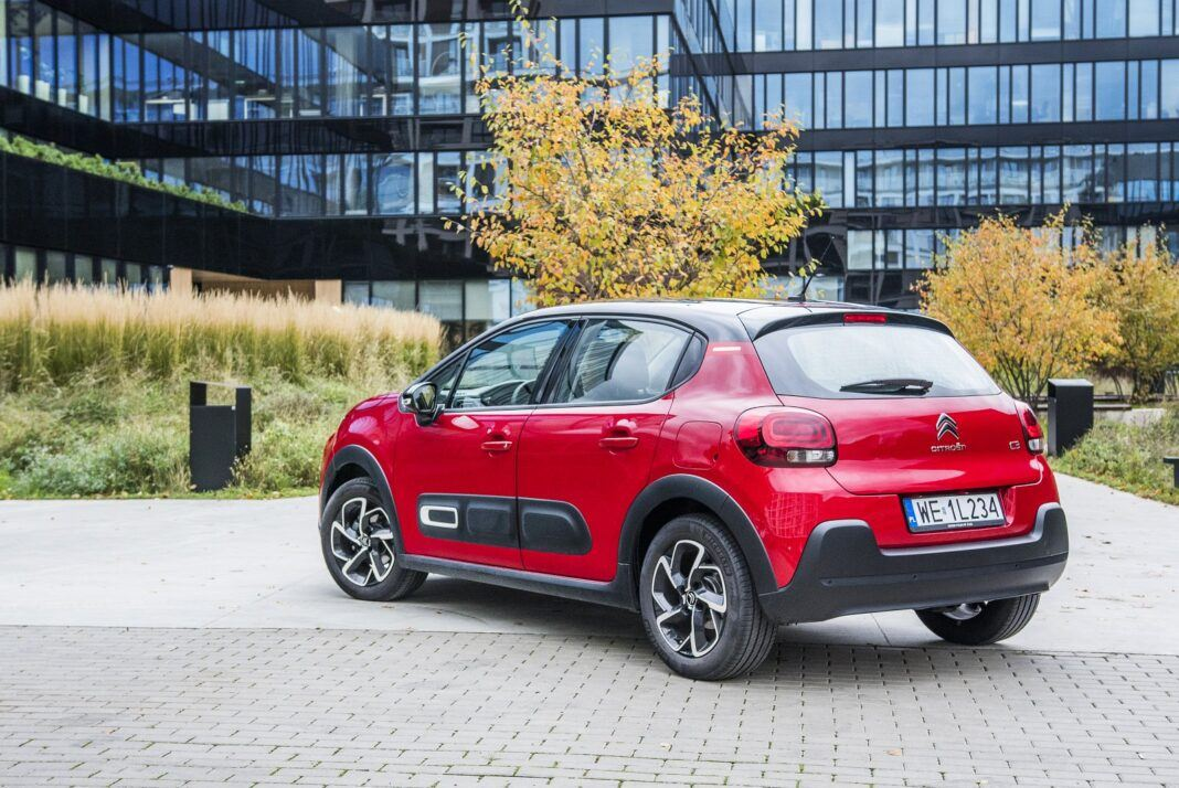 citroen c3 1.2 puretech 110 lifting test 2020 tył